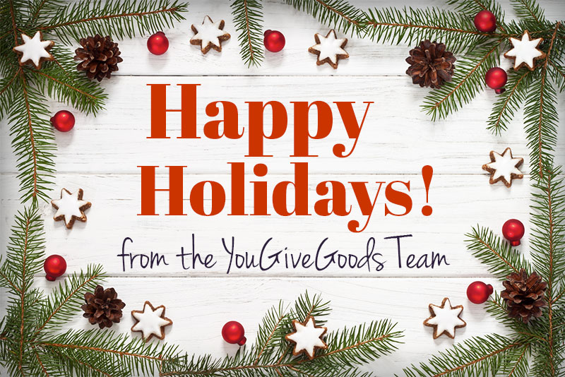 Happy Holidays from the YouGiveGoods team